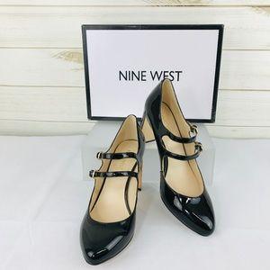 NWT Nine West Academy Mary-Jane Block-Heel